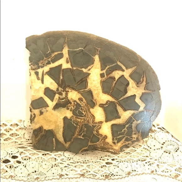 Other - Large Septarian Sliced Geode Stone